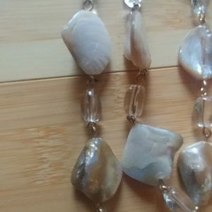 Ami Jewelry - Nwt AMI necklace and earring set mother of pearl